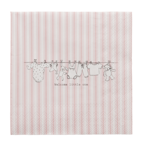 20 Papierservietten WELCOME LITTLE ONE * GIRL Clayre & Eef