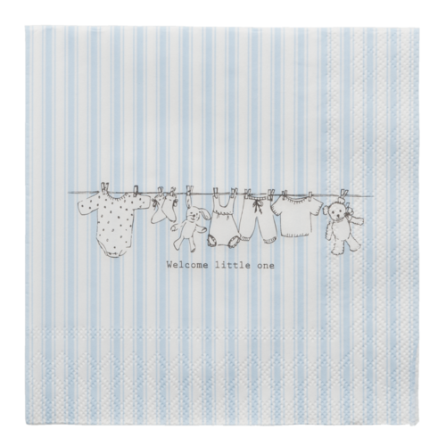 20 Papierservietten WELCOME LITTLE ONE * BOY Clayre & Eef