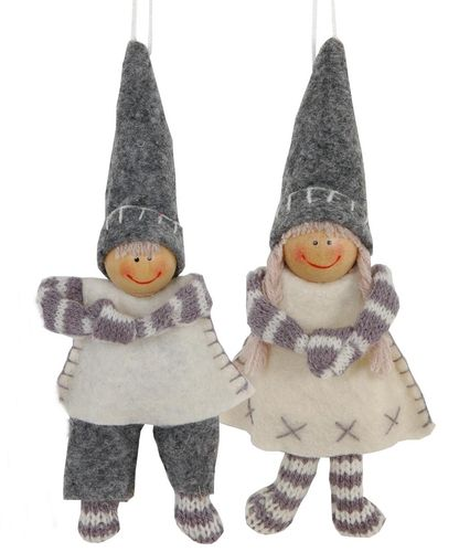 Winterkinder FINN & FINCHEN 14cm by Clayre & Eef / Winterdeko *016