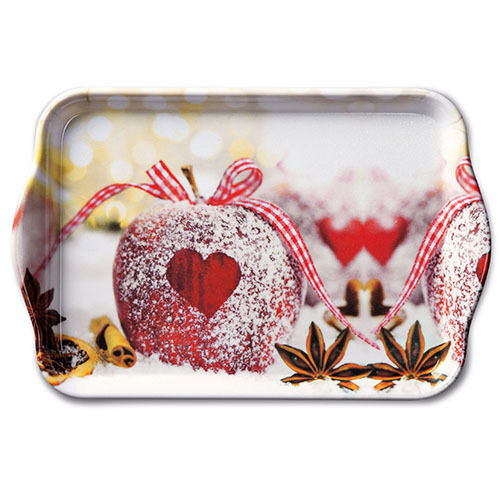 Tablett, Tray HEART ON APPLE 13x21cm  Ambiente