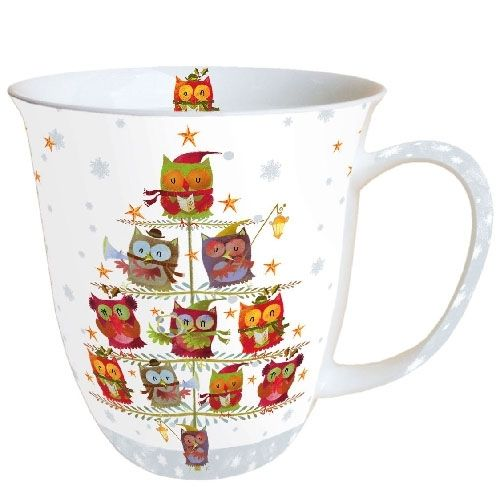 Tasse, Porzellantasse CHRISTMAS TREE OWLS  0,4l Ambiente