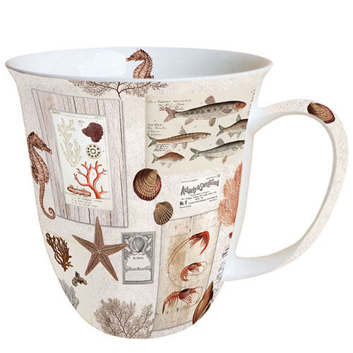 Tasse, Porzellantasse Sepia SEA CREAM 0,4l Ambiente