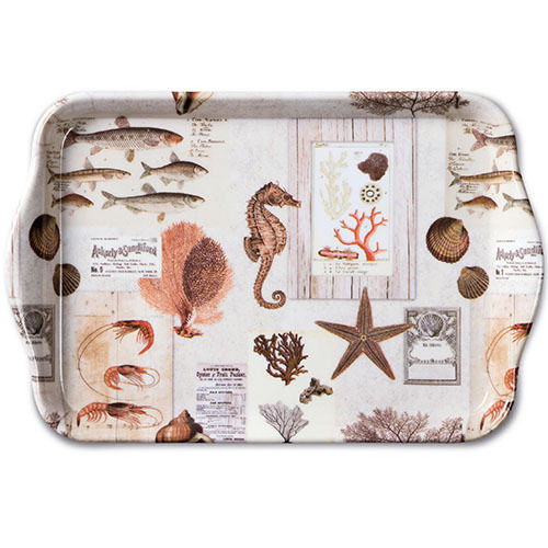 Tablett, Tray Sepia SEA CREAM 13x21cm  Ambiente