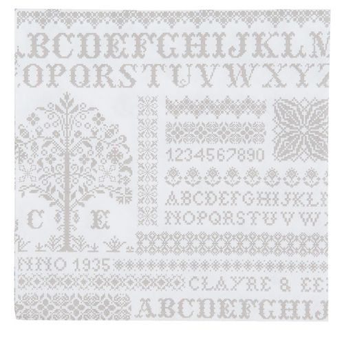 CROSS SITCHED PATTERN 20 Papierservietten Clayre &  Eef