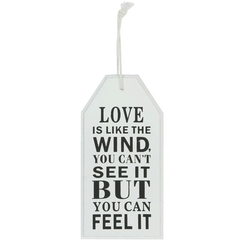 Schild, Textschild, Hänger *0878 LOVE IS LIKE THE WIND 22cm