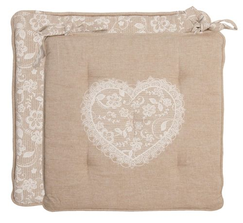 LACE WITH LOVE Stuhlkissen Clayre & Eef