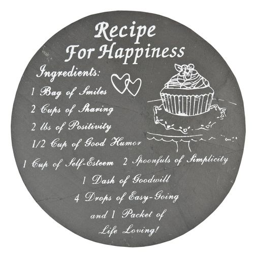 Untersetzer Schiefer RECIPE FOR HAPPINESS 25cm Clayre & Eef