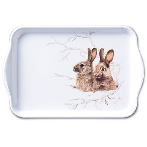Tablett, Tray WINTER MORNING 13x21cm  Ambiente