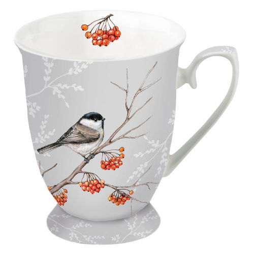 Tasse, Porzellantasse BIRD ON BRANCH hell 0,25l Ambiente