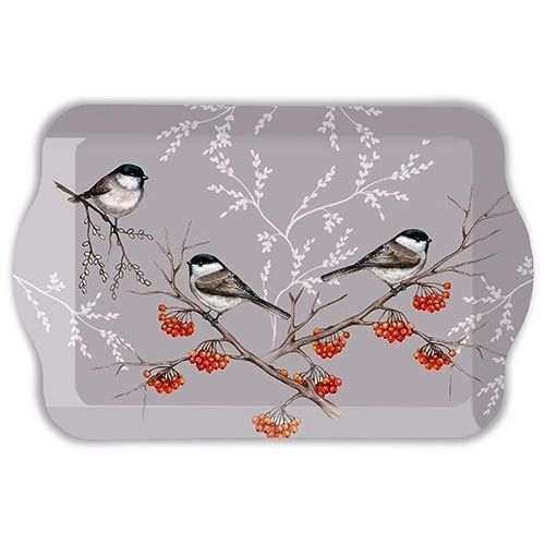 Tablett, Tray BIRD ON BRANCH 13x21cm  Ambiente