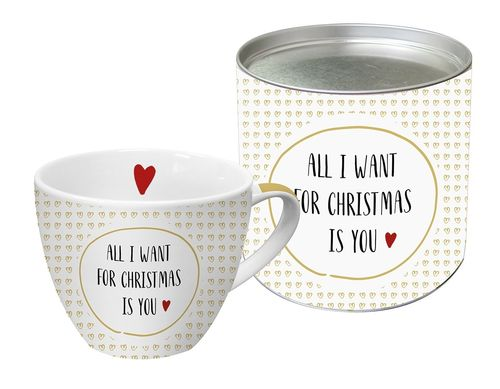 Jumbo Tasse WANT FOR CHRISTMAS 0,45l in Geschenkdose