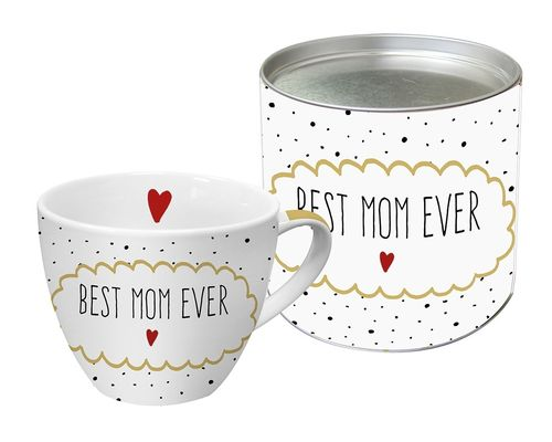 Jumbo Tasse BEST MOM EVER 0,45l in Geschenkdose