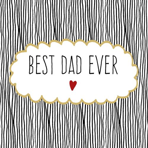 20 Papierservietten, Servietten BEST DAD EVER ppd