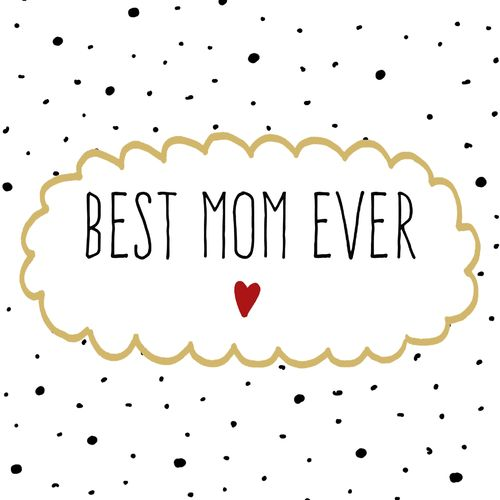 20 Papierservietten, Servietten BEST MOM EVER ppd