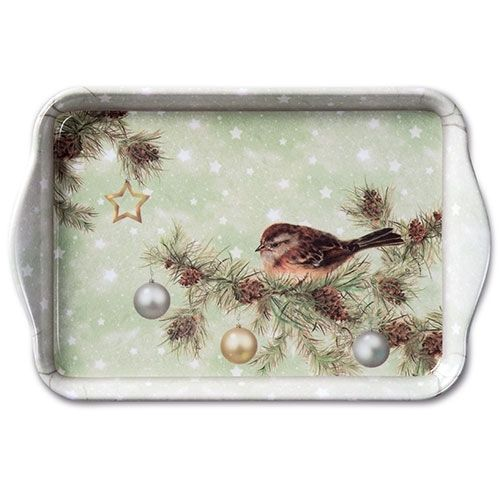 Tablett, Tray  THE SEASON GREEN  13x21cm  Ambiente
