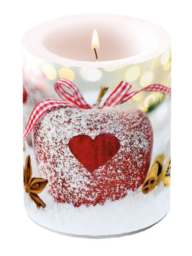 Kerze, Lampionkerze HEART ON APPLE  12cm  Ambiente