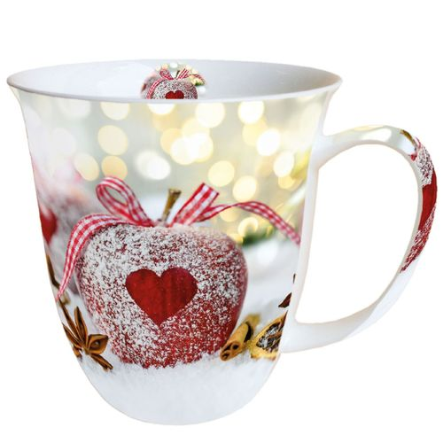 Tasse, Porzellantasse HEART ON APPLE 0,4l Ambiente