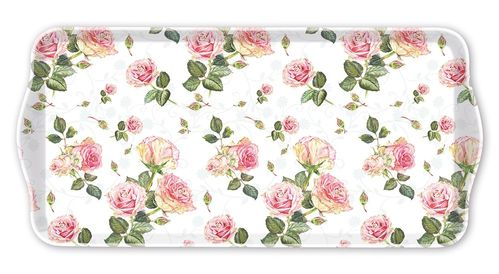 Tablett, Tray ROSIE white  17x34cm  Ambiente