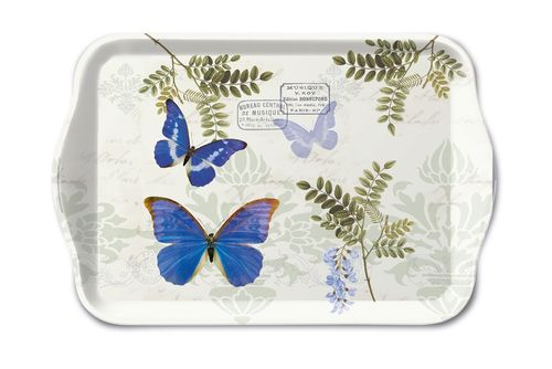 Tablett, Tray BLUE MORPHO 13x21cm  Ambiente