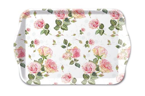 Tablett, Tray ROSIE white 13x21cm  Ambiente
