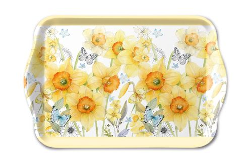 Tablett, Tray NARZISSEN 13x21cm  Ambiente
