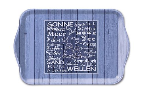Tablett, Tray BEACH TERMS 13x21cm  Ambiente