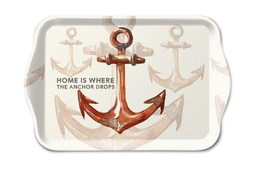 Tablett, Tray RUSTY ANCHOR 13x21cm  Ambiente