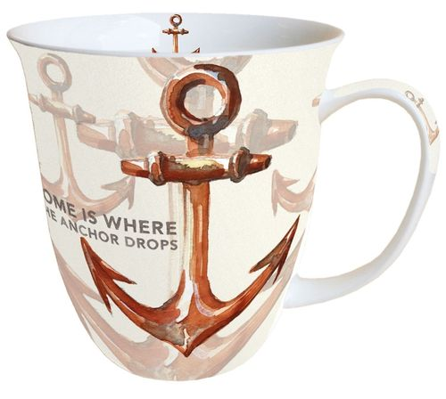 Tasse, Porzellantasse RUSTY ANCHOR 0,4l Ambiente