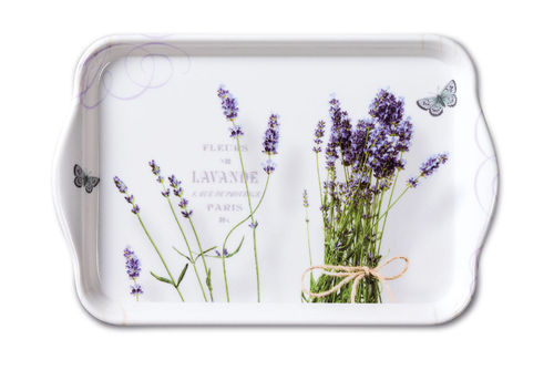 Tablett, Tray BUNCH OF LAVENDER 13x21cm  Ambiente