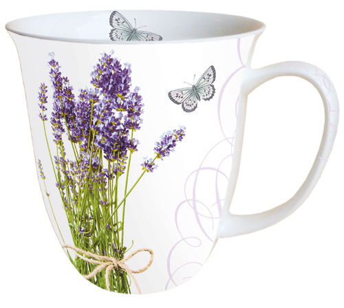 Tasse, Porzellantasse BUNCH OF LAVENDER  0,4l Ambiente