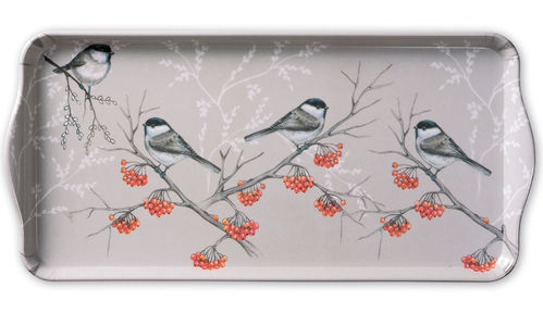 Tablett, Tray BIRD ON BRANCH 17x34cm  Ambiente
