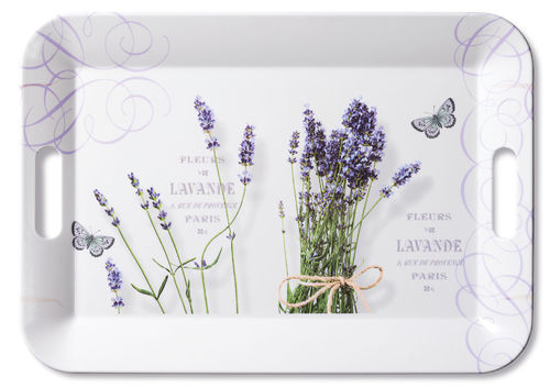 Tablett, Tray BUNCH OF LAVENDER  33x47cm  Ambiente