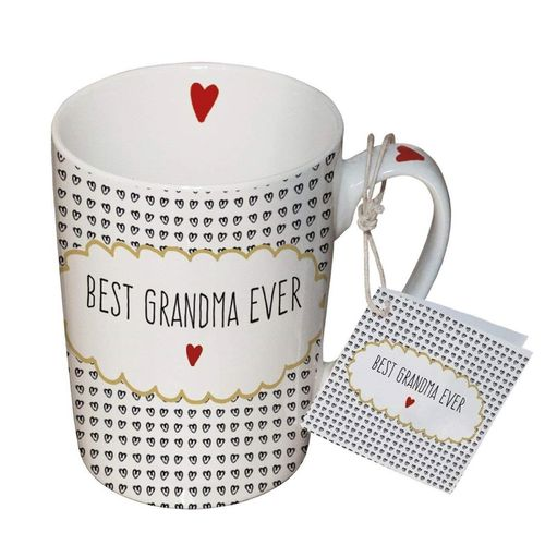 Henkelbecher, Tasse BEST GRANDMA EVER 0,25l