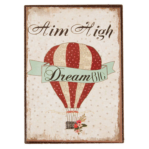 Magnet AIM HIGH DREAM BIG 5x7cm Clayre & Eef