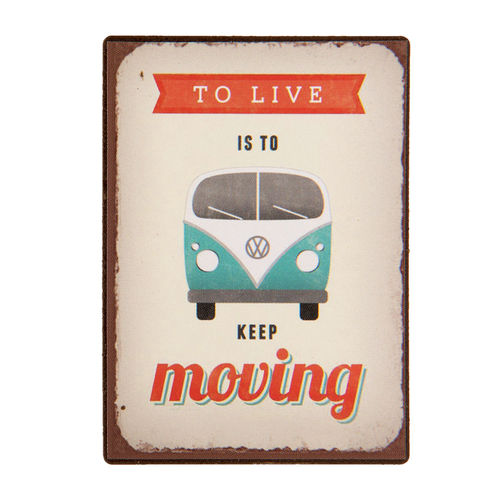Magnet TO LIVE IS TO KEEP MOVING 5x7cm Clayre & Eef