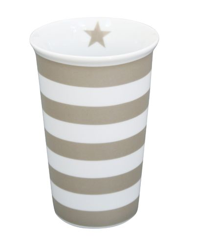 Vase STRIPES taupe VA192 by Krasilnikoff