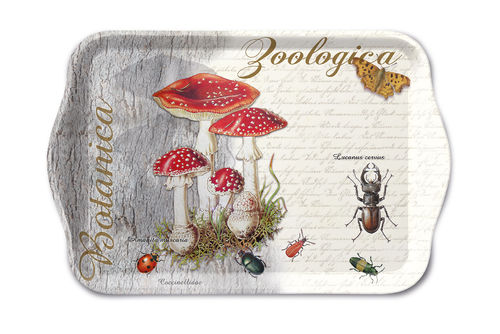 Tablett, Tray FLY AGARIC AND BEETLE 13x21cm  Ambiente
