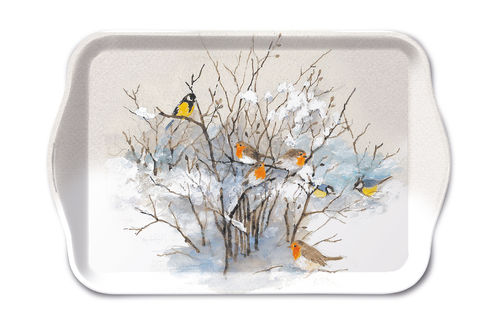 Tablett, Tray BIRDS ON BRANCHES 13x21cm  Ambiente
