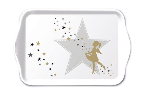 Tablett, Tray MAKE A WISH 13x21cm  Ambiente