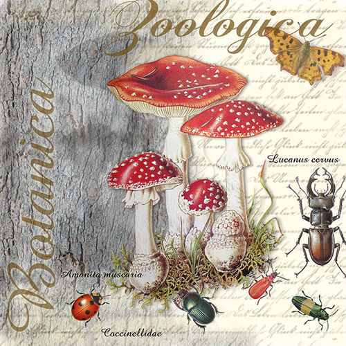 20 Papierservietten, Servietten FLY AGARIC AND BEETLE Ambiente