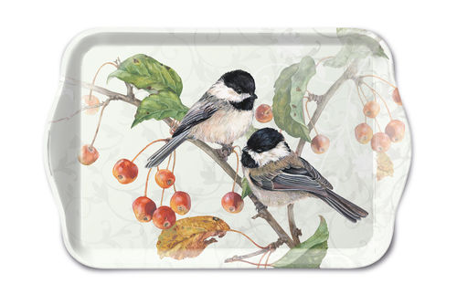 Tablett, Tray CHICKADEE 13x21cm  Ambiente