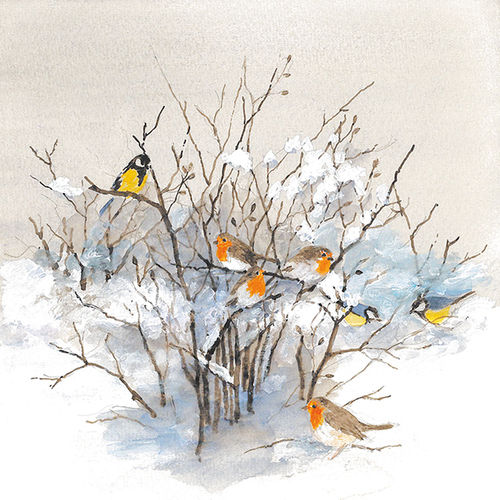 20 Papierservietten, Servietten BIRDS ON BRANCHES Ambiente