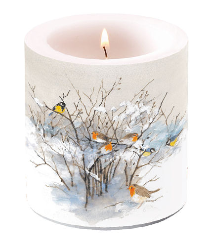 Kerze, Lampionkerze BIRDS ON BRANCHES 9cm  Ambiente