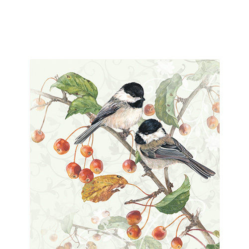 20 Papierservietten, Cocktail - Servietten CHICKADEE Ambiente