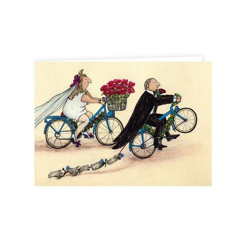 Doppelkarte, Klappkarte BIKE WEDDING