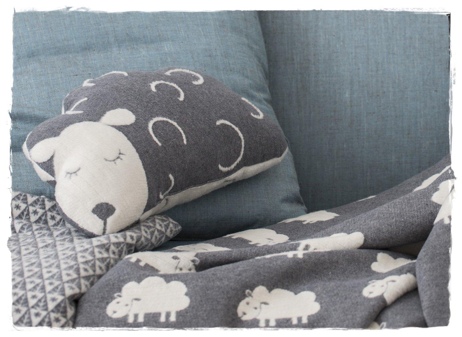 David Fussenegger Dekokissen Kinderkissen Kissen Schaf mit Füllung 30 x 50 cm