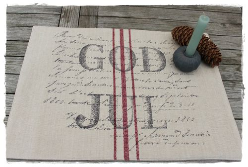 GOD JUL Tischset  Jute  47x35cm by Soul of Artefina