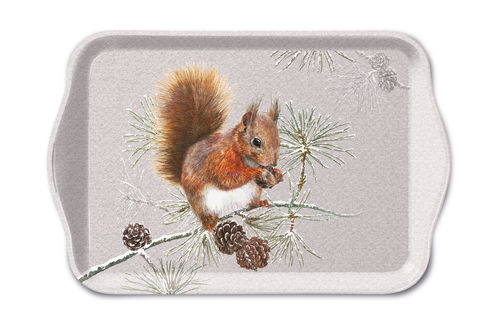 Tablett, Tray EICHHÖRNCHEN Squirrel 13x21cm  Ambiente