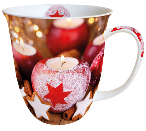 Tasse, Porzellantasse STAR ON CANDLE  0,4l Ambiente