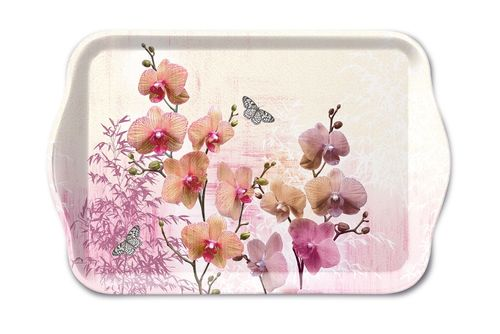 Tablett, Tray ORCHIDS ORIENT13x21cm  Ambiente